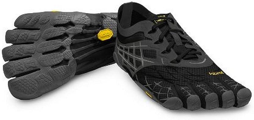 Vibram - Zapatillas de Running para Hombre con 5 Dedos, Color Negro/Gris/Plateado, tamaño 44 EU: Amazon.es: Zapatos y complementos
