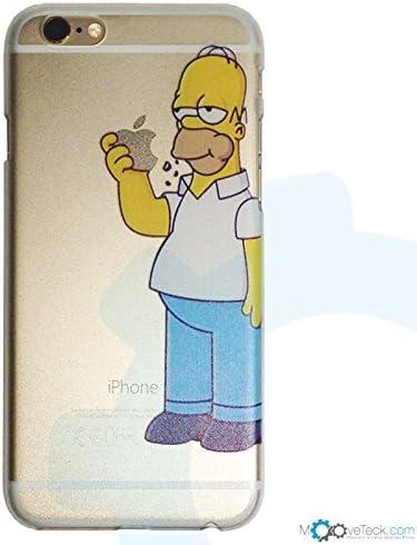 Coque rigide transparente Simpson Homer pour iPhone 6