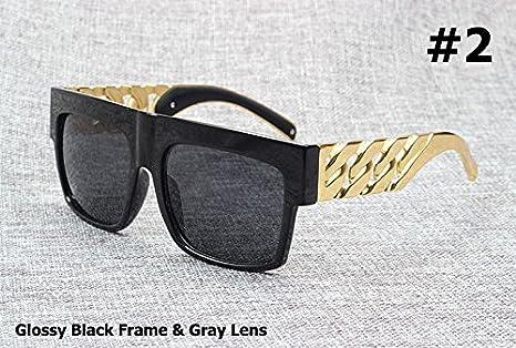 Aprigy Fashion - Gafas de Sol Estilo Vintage con Cadena de ...