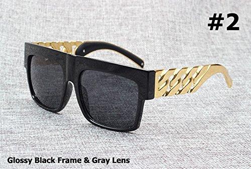 estilo cadena 2 Fashion Kardashian metal Beyonce inspirado vintage de Gafas sol Kim Aprigy 3 la con famosa en dorado de famosa wIRd0W