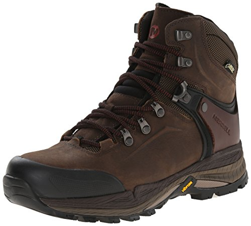 Merrell Men's Crestbound Gore-Tex Mid Hiking Boot, Clay, 9 M US