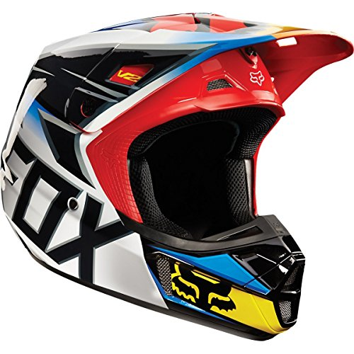 Fox V2 Race Helmet, Ece [Blk/Rd] L Blk/Rd Large 11081-017-L (Fox V2 Race)