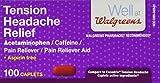 Walgreens Tension Headache Pain Reliever Coated Caplets, 100 ea