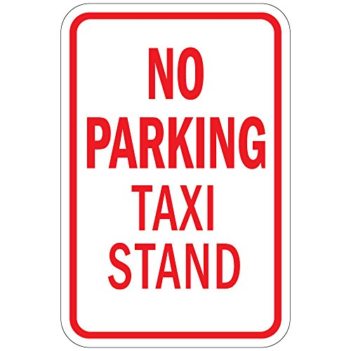 (No Parking Taxi Stand LABEL DECAL STICKER Sticks to Any Surface 9x12)