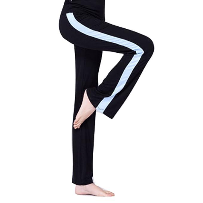 junkai Pantalones Yoga Mujer Pantalones Jogging Cintura Alta ...