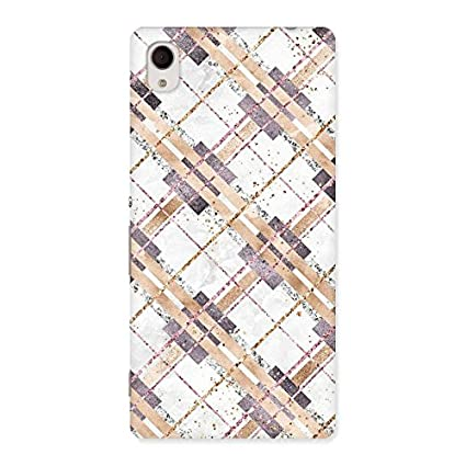 Diagonal Check Design Back Case Cover for Sony Xperia: Amazon in
