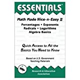 Percentages, Exponents, Radicals, Logarithms and Algebra Basics, Research & Education Association Editors, 0878912010