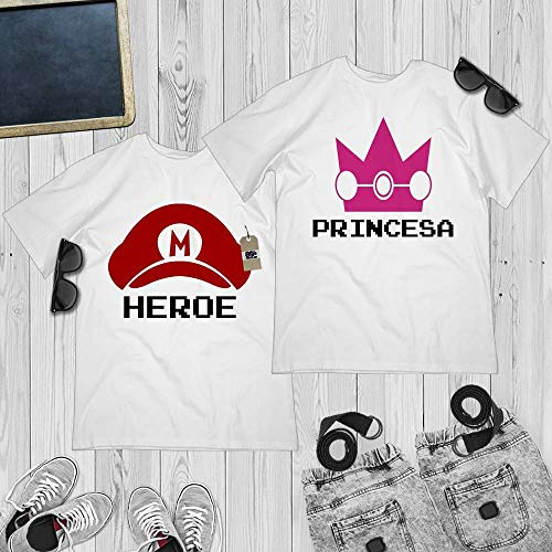 Heroe Princesa Matching Halloween Couple Costume Shirt Girlfriend Boyfriend Customized Handmade Hoodie/Sweater/Long Sleeve/Tank Top/Premium -