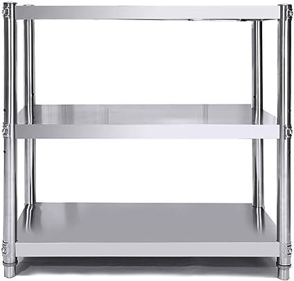 Estante de 3 niveles for cocina pequeña, unidad de estantería ...