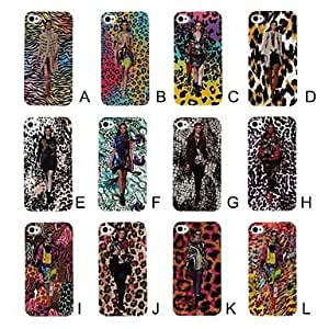 JJEFashion Leopard Model Pattern TPU Soft Case for iPhone 4/4S , E