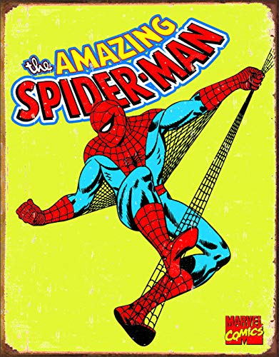 (Spiderman Retro Tin Metal Sign)