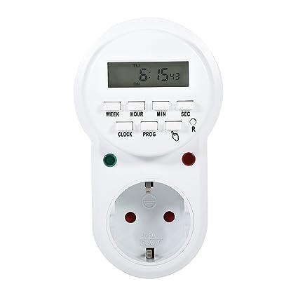Toma programador controlador de salida de temporizador programable Digital de 7 días para los ventiladores y