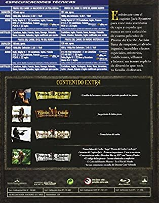Duopack: Piratas Del Caribe 1-4 + Bonus Disc Blu-ray: Amazon.es ...