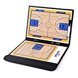ZXJOY Basketball Coach Tactical Board Coaching Magnetic Strategy Clipboard Zipper Bag with Writing Wipe Two-in-one Pen