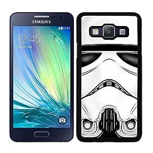Funda carcasa para Samsung Galaxy A7 cara soldado SW borde negro
