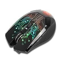 ENHANCE 3500 DPI Wireless Optical LED Gaming Mouse with 2.4GHz Receiver & Ergonomic Fit - Compatible with CybertronPC Borg-Q , Lenovo Erazer , ASUS Rog G20AJ & more Computers *Bonus Mousepad*