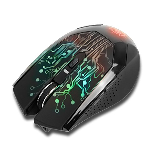 Price comparison product image ENHANCE 3500 DPI Wireless Optical LED Gaming Mouse with 2.4GHz Receiver & Ergonomic Fit - Compatible with CybertronPC Borg-Q , Lenovo Erazer , ASUS Rog G20AJ & more Computers