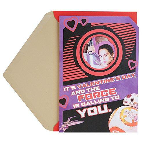 Hallmark Star Wars Pop Up Valentine's Day Card for Kids (Rey and BB-8)