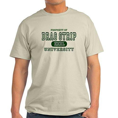 CafePress Drag Strip University Ash Grey T-Shirt - 100% Cotton T-Shirt - University Ash Grey T-shirt