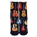 VariClouds Men's Women's Custom GUITAR Music Creative Casual Fashion Crew Socks