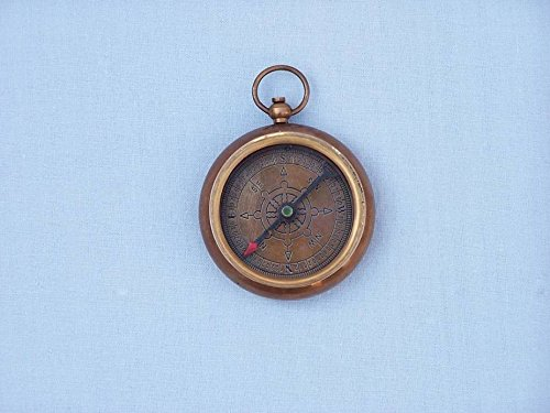 (Handcrafted Model Ships Antique Brass RMS Titanic White Star Pocket Compass 3