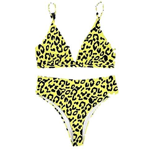 (iLUGU Women Bikini Set Fashion Push-Up Padded Bra Beachwear Leopard Print Swimsuit Swimwear Bathing Suit)