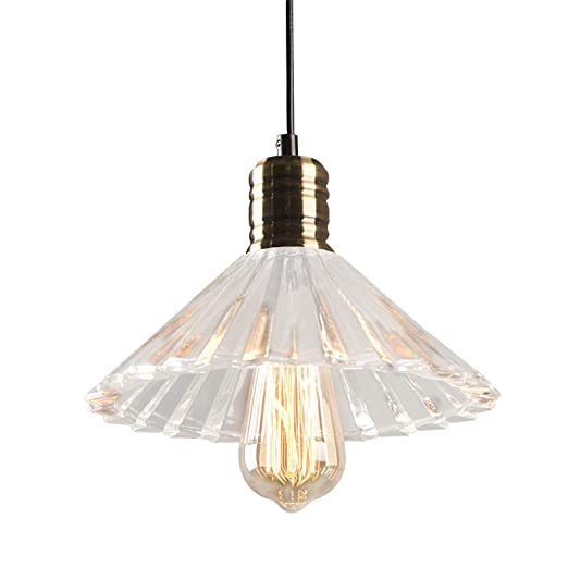 baycheer hl370937 industrial retro vintage styly cone ribbed glass