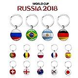 HATABO Keychain Footbal Basketball Souvenir World Soccer Keychain Flag Football Keychain Fans Souvenir (Random)