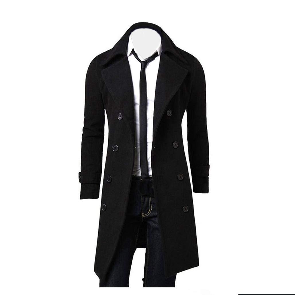 b2f19de656de0 Coats   Jackets Men s Clothing New Men Fashion Winter Trench Warm Outwear  Long Jacket Coat Parka Sweater Hooded