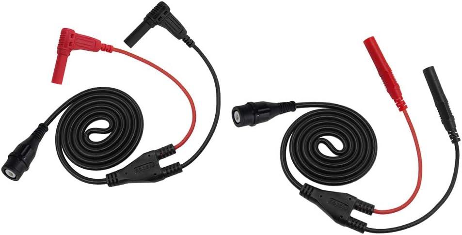 H HILABEE BNC Conector Macho A Enchufes De Banana De 4 Mm Cable Coaxial De 120 Cm RG58 para Prueba De Osciloscopio, Equipos Electrónicos, 2 Paquetes: Amazon.es: Electrónica
