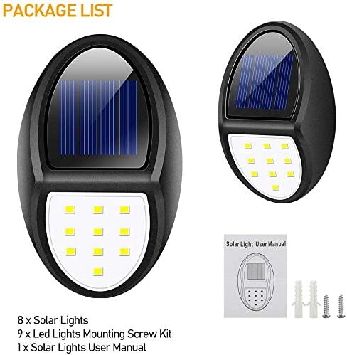 Flood & Perimeter 8 Pack Fence,Yard and Flood Solar Lights Outdoor ...