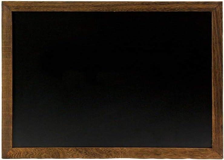 木製フレーム両面黒板 非磁性アンティークの木製フレームの傷は簡単に商業的使用の完璧な学校の主催者のための黒板を消します (色 : Picture color, サイズ : 50x70cm)