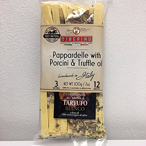 Tiberino's Real Italian Meals - Pappardelle with Porcini and truffle oil by Tiberino