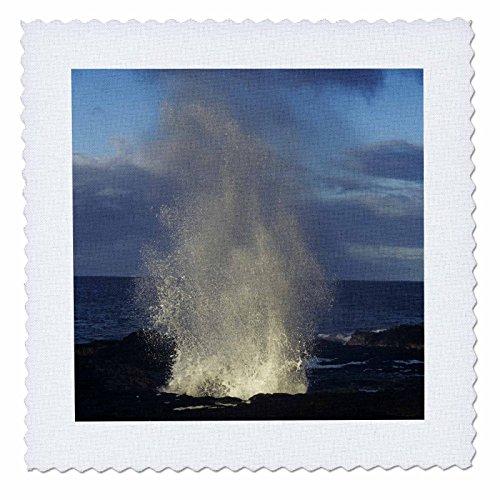 3dRose qs_89895_4 Spouting Horn, Poipu, Kauai, Hawaii, USA - US12 RNU0004 - Rolf Nussbaumer - Quilt Square, 12 by 12-Inch
