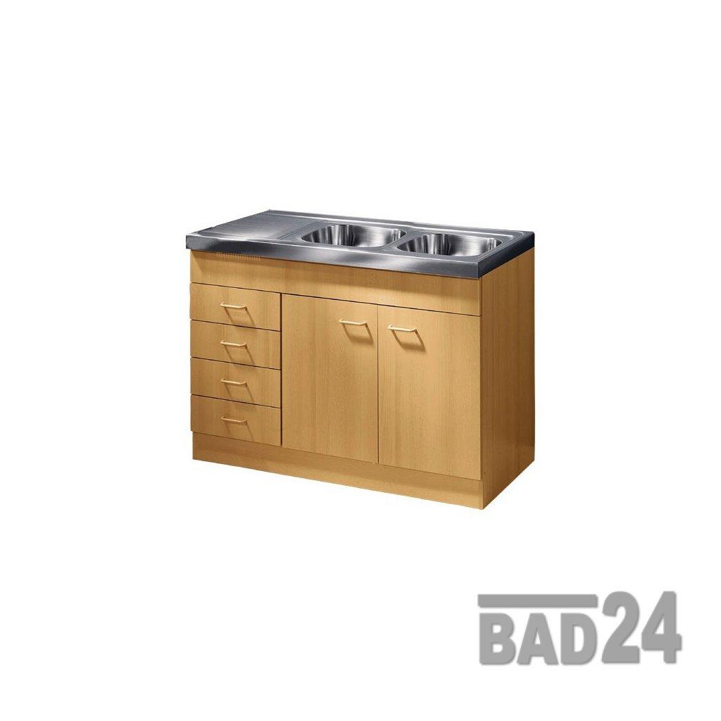 Küche-Spülenschrank Mehrzweckschrank 120x60 Schubkästen Start ...