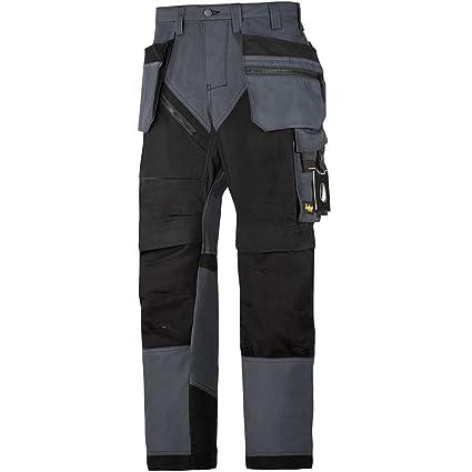 43036e8966e8 Snickers Workwear - Pantaloni da lavoro RuffWork plus con HP, nero, 6202:  Amazon.it: Fai da te
