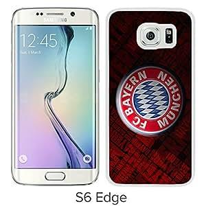 New Unique Custom Designed Case With Bayern Munich 4 White For Samsung Galaxy S6 Edge Phone Case