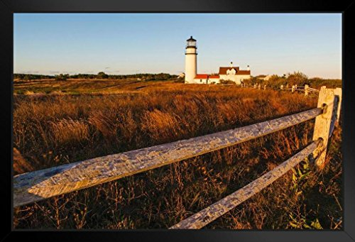 - Highland Light Lighthouse North Truro Cape Cod National Seashore Photo Art Print Framed Poster 20x14 inch