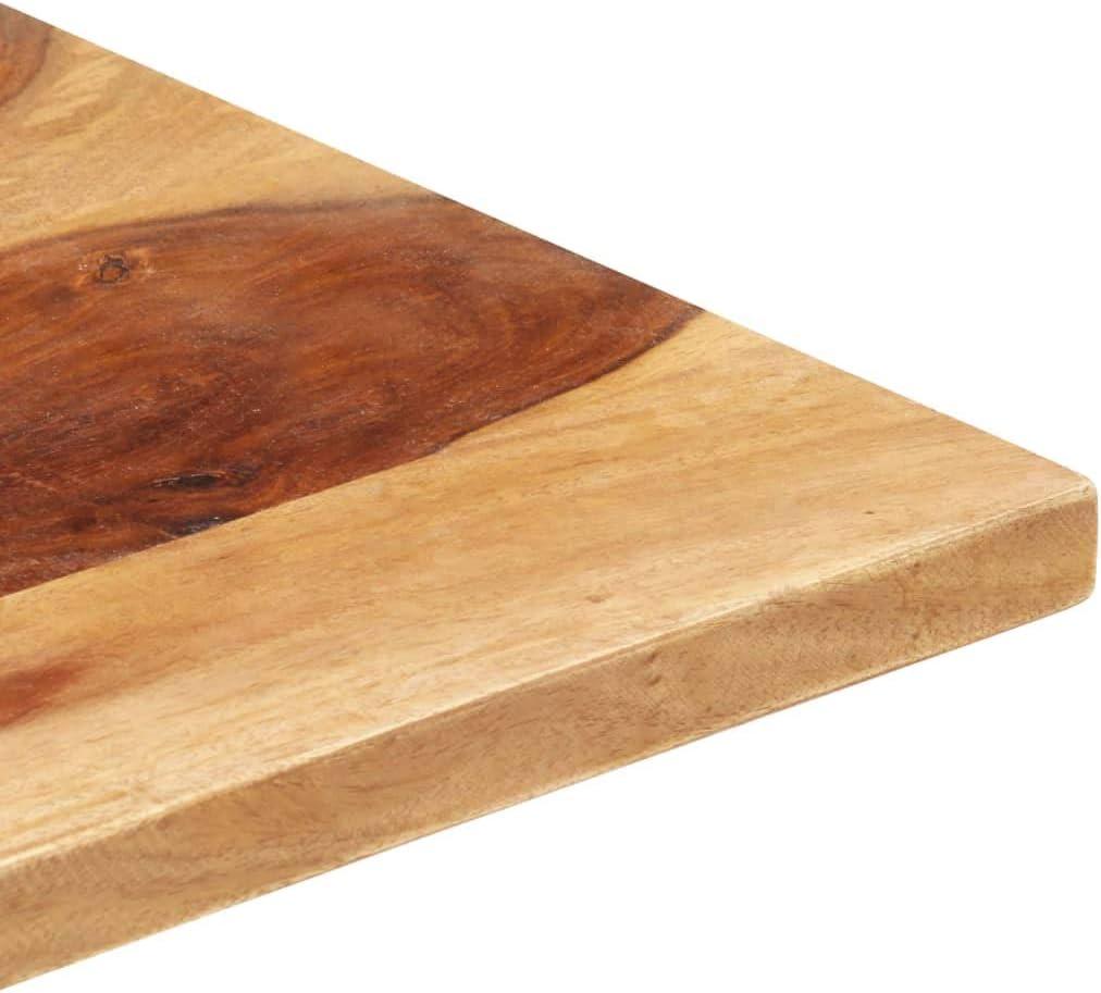 vidaXL Sheesham-Holz Massiv Tischplatte Massivholzplatte Holzplatte Ersatztischplatte Holz Platte f/ür Esstisch Palisander 25-27mm 60x80cm