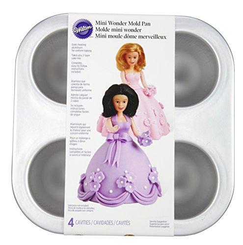 Wilton Mini Wonder Mold Doll Cake Pans, 4-Cavity