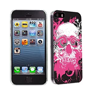 NakedShield - iPhone 5S / 5 Pink Skull Ultra Slim Fit Design Phone Cover Case