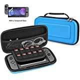 Carrying Case for Nintendo Switch, Motie Hard EVA Portable Travel Storage Cover Shell Pouch for Nintendo Switch Console & Accessories, Blue