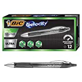 BIC Gel-ocity Ultra Retractable Gel Pen, Black, 12-Count