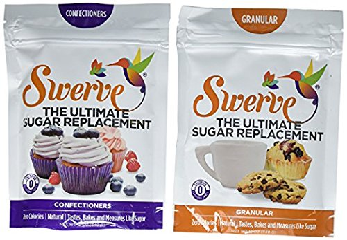 Price comparison product image Swerve Sweetener Bakers Bundle (12 Ounce Granular & Confectioners: The Ultimate Sugar Replacement