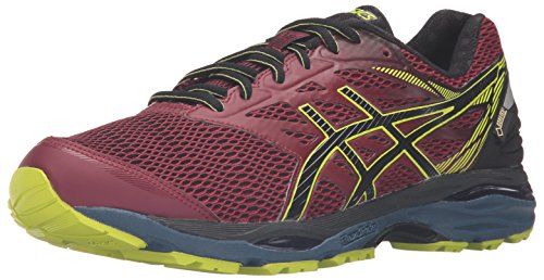 ASICS Men's Gel-Cumulus 18 G-TX running Shoe, Pomegranate/Black/Sulphur Spring, 11 M US