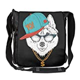 Hip Hop Panda Fashion Print Diagonal Single Shoulder Bag