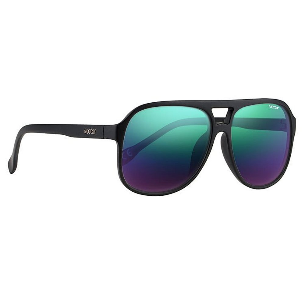 Classic Black Metal Aviator Sunglasses with Black Polarized Lenses & UV Protection - the Dante by Nectar