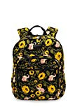 Fanloli Quilted Cotton College Travel Backpack in Elephant in Sunflower