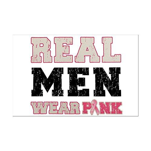 Mini Poster Print Cancer Real Men Wear Pink Ribbon