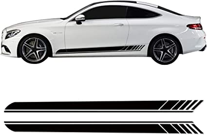 Edition 1 Side Stripes Decal Sticker for Mercedes Benz W205 C Class AMG Black